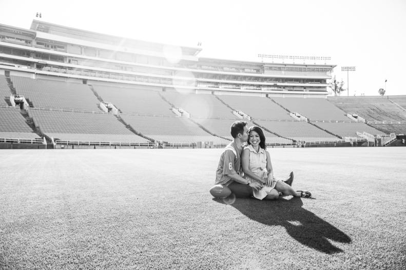 Rose Bowl Engagement-Vivian Lin Photo