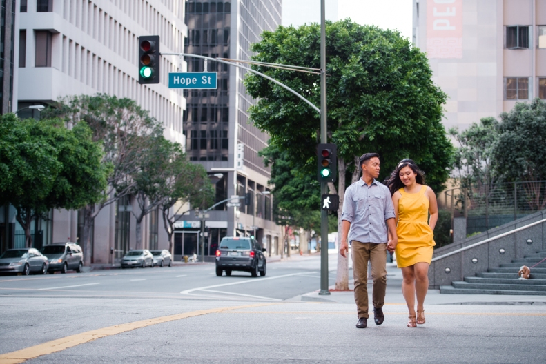 Downtown LA Engagement_Vivian Lin Photo_7872