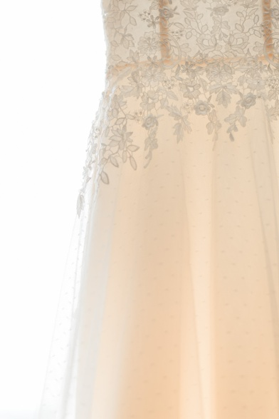 This polka dot tulle detail was so fine, it deserved a photo of its own.